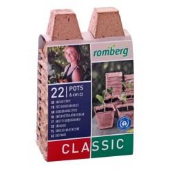 Pots de culture biodégradables carré 6 cm - 22 pièces